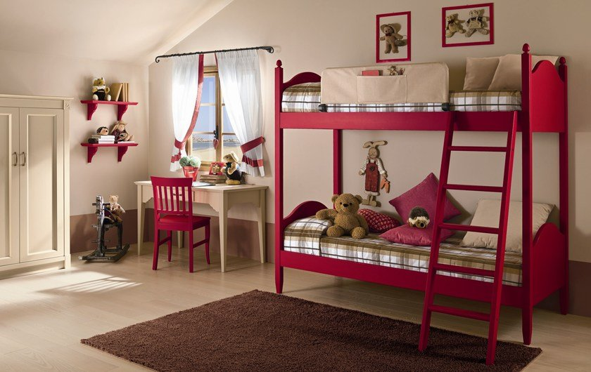 Wooden teenage bedroom ROMANTIC | Composition 06 by Callesella Arredamenti