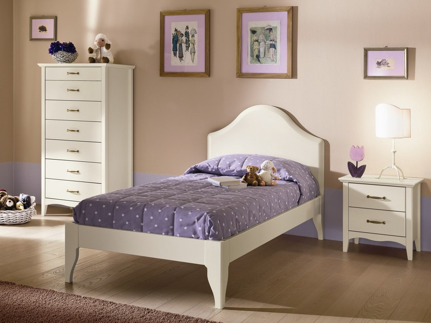Wooden bedroom set ROMANTIC | Composition 01 by Callesella Arredamenti