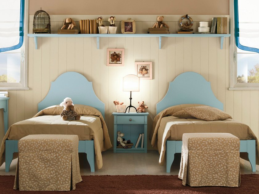 Wooden teenage bedroom ROMANTIC | Composition 11 by Callesella Arredamenti