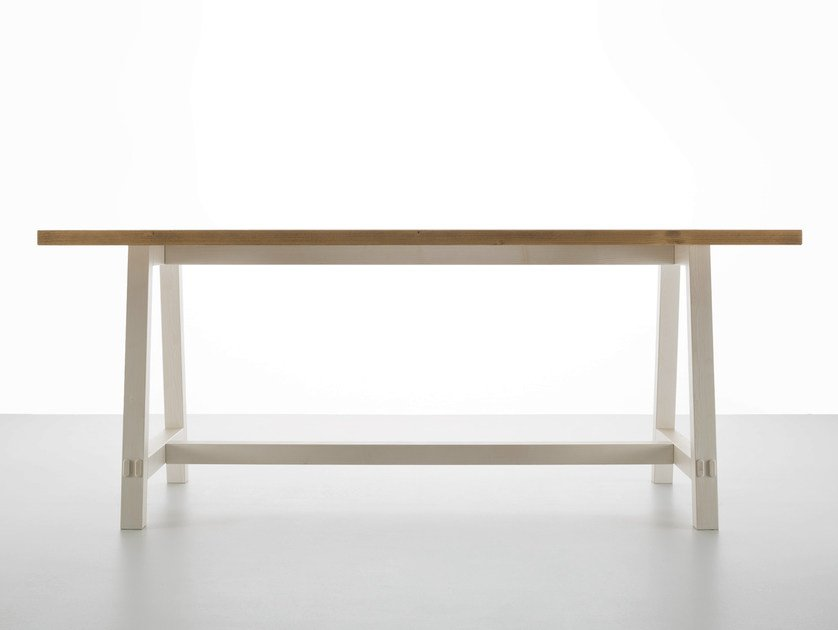 Rectangular wooden dining table NEW FRATINO by Callesella Arredamenti