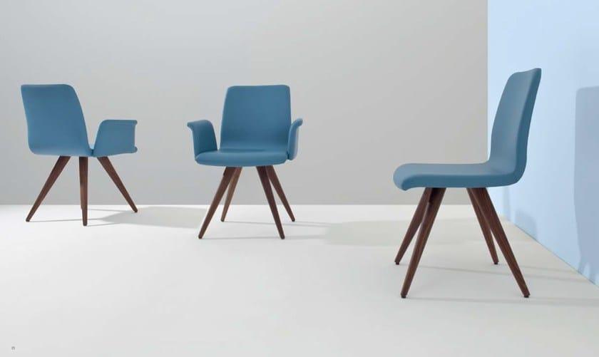 FLO WOOD | Sedia con braccioli