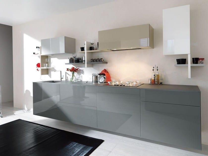 Cucina componibile laccata lineare 36E8  Cucina lineare - Lago