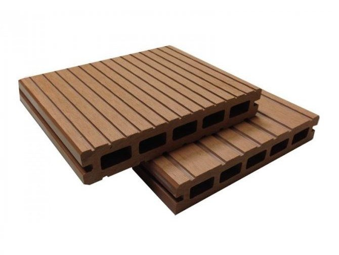 Engineered wood outdoor floor tiles / decking Nautical Holow Profile Stave Wood by NOVOWOOD