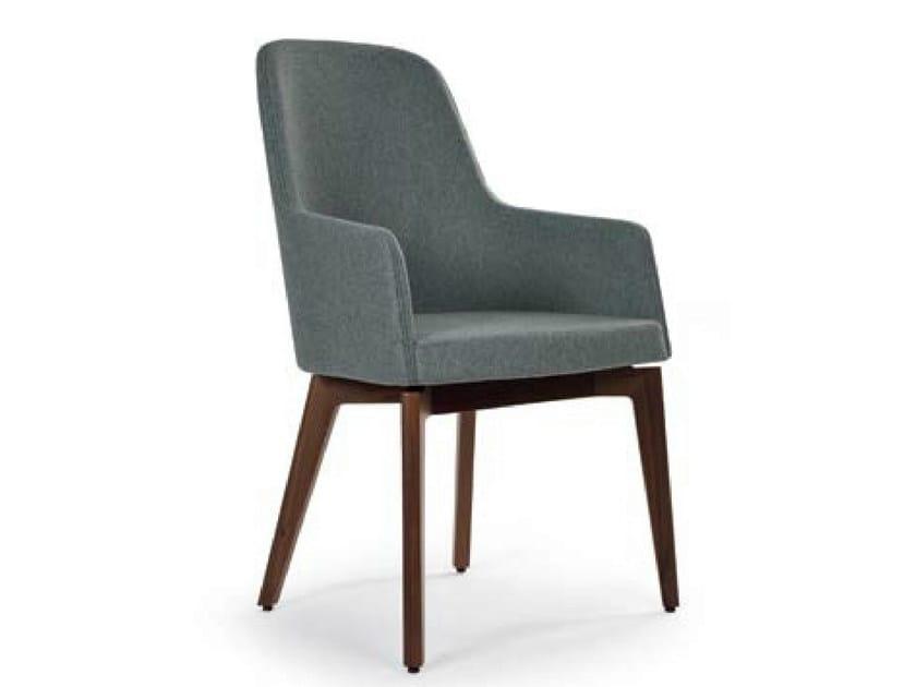 Upholstered felt chair with armrests MARLÈNE WOOD | Felt chair by Riccardo Rivoli