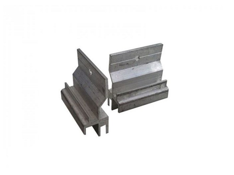Anchorage system and profile for a facade Clips steel wall fan by NOVOWOOD