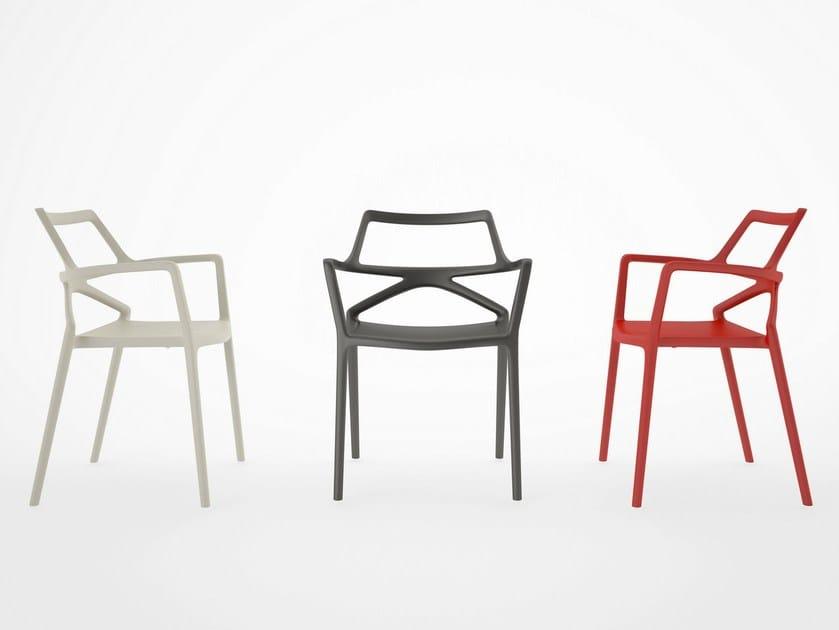 Garden chair with armrests DELTA | Chair by VONDOM