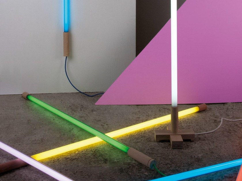 Fluorescent Floor Lamp LINEA By Seletti