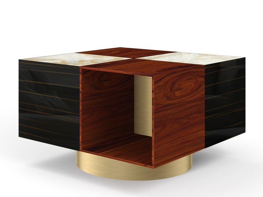 Square wooden coffee table for living room FRED   Coffee table by MARIONI