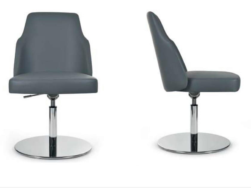 Swivel upholstered height-adjustable chair MIA ROUND | Swivel chair by Riccardo Rivoli