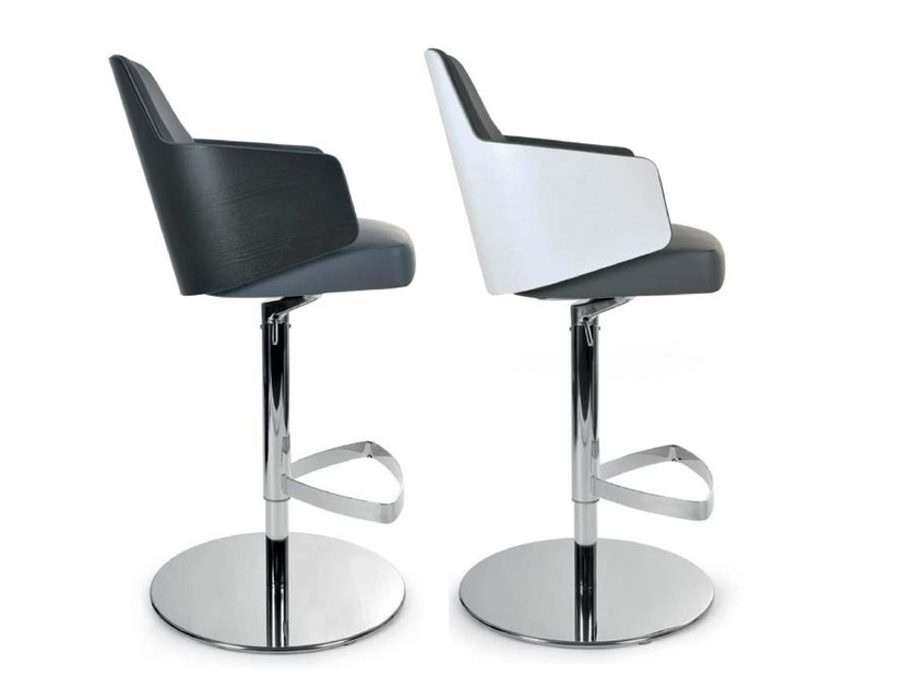 Swivel chair with armrests MIA STOOL | Swivel chair by Riccardo Rivoli