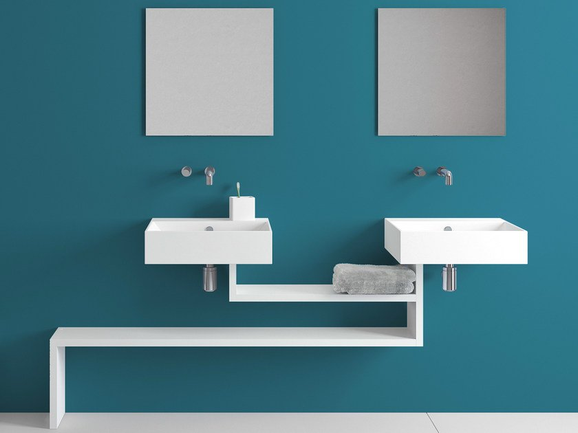 Wall-mounted ceramic washbasin with overflow BASICA | Wall-mounted washbasin by Lago