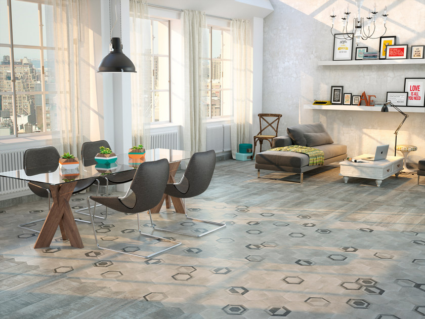 Ceramic flooring with stone effect DOMME 17,5x20,2 by Carmen Ceramic Art