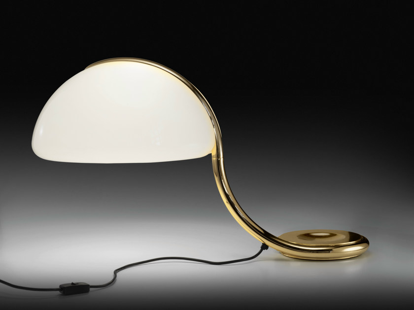 LED swivel table lamp SERPENTE ORO by Martinelli Luce