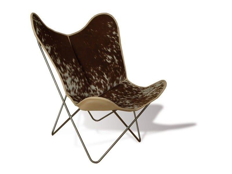 Cowhide armchair HARDOY BUTTERFLY CHAIR ORIGINAL COWHIDE By Weinbaums