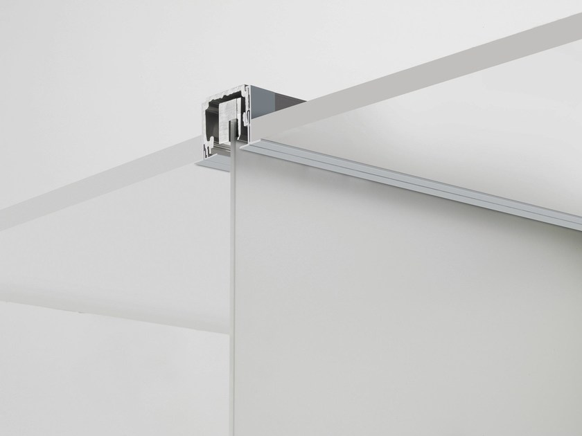 Metal sliding door track V-7100 by Metalglas Bonomi