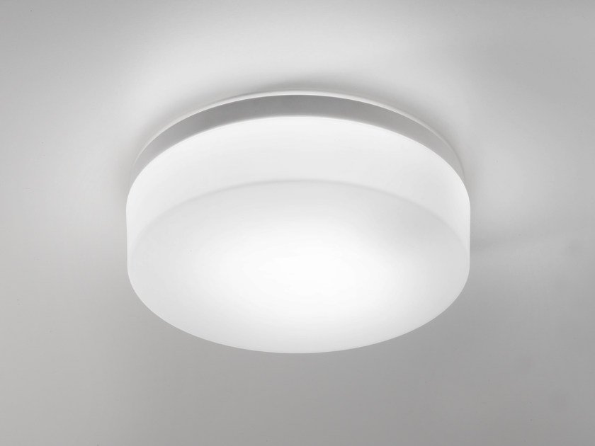Glass ceiling lamp DRUM METAL | Ceiling lamp by Ailati Lights