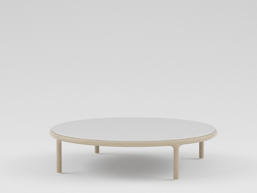 Low round wooden coffee table CAMEO | Round coffee table by PIAVAL