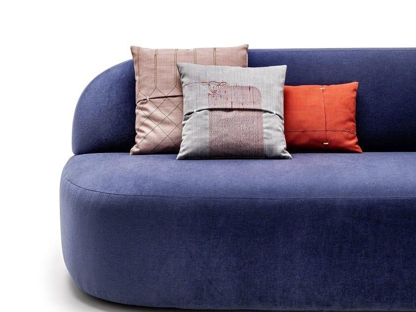 Embroidered fabric cushion SHARPEI by La Cividina