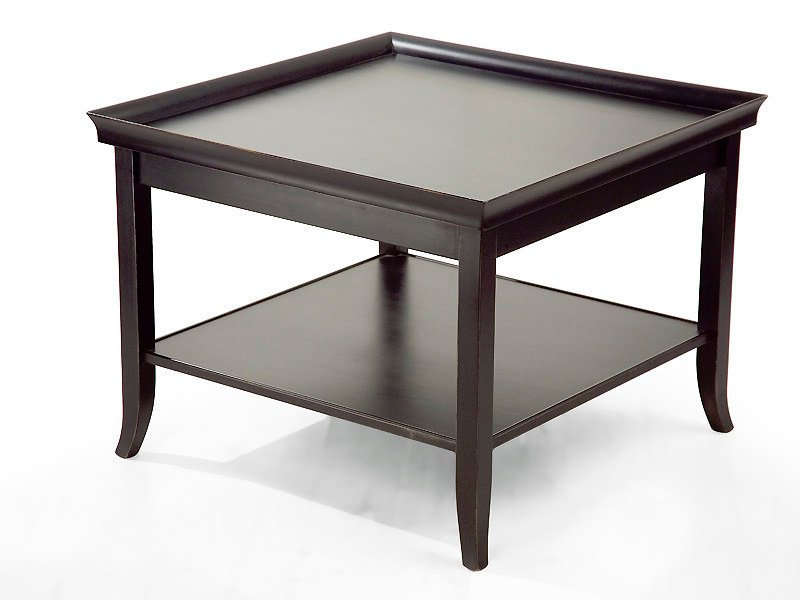 Wooden Coffee Table With Integrated Magazine Rack For Living Room ZEN |  Square Coffee Table By