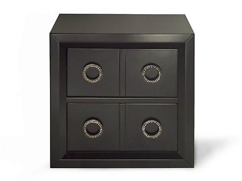Wooden bedside table with drawers KIEL | Wooden bedside table by MARIONI
