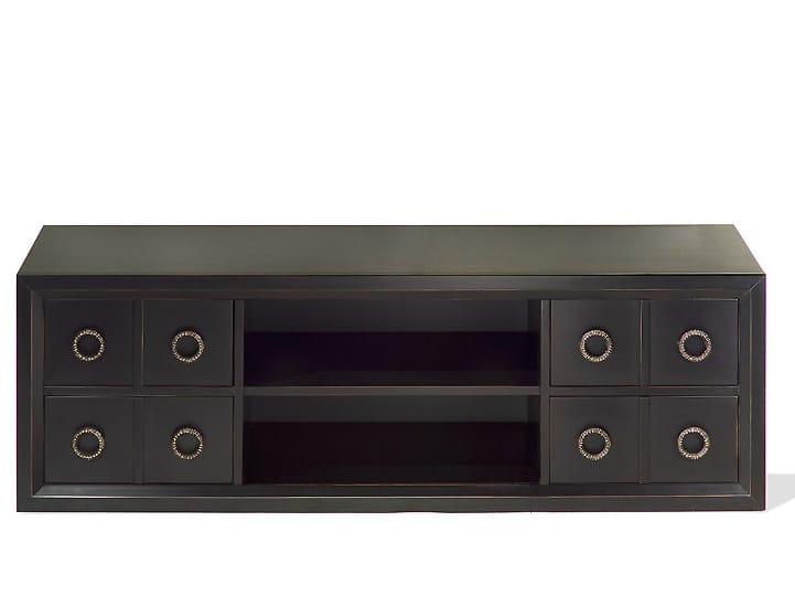 Low wooden TV cabinet KIEL | Wooden TV cabinet by MARIONI