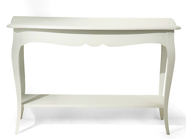 Rectangular wooden console table BLADE | Wooden console table by MARIONI