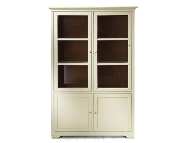 Wooden highboard with doors ASPEN | Highboard by MARIONI