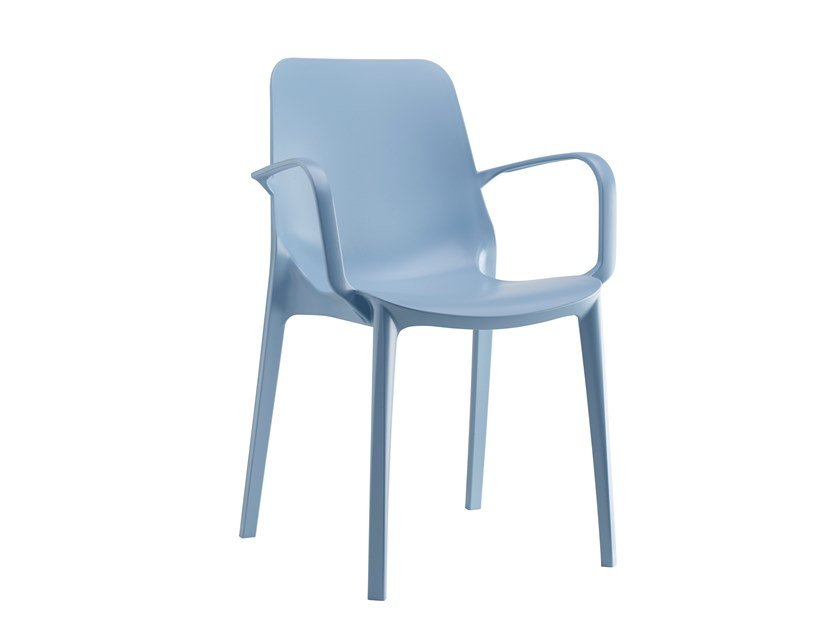 Stackable technopolymer chair with armrests GINEVRA | Chair with armrests by SCAB DESIGN