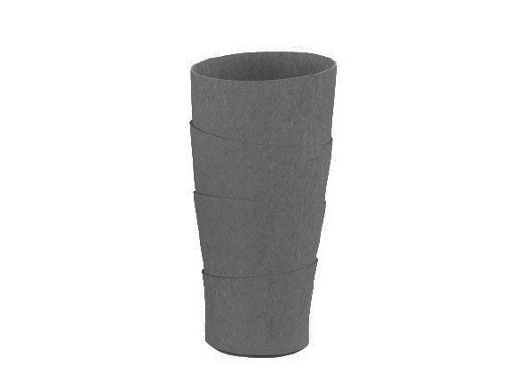 High cement garden vase PALMA by SWISSPEARL Italia