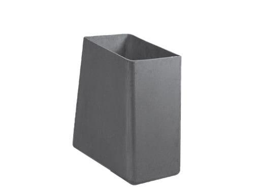 Cement garden vase TWISTA by SWISSPEARL Italia