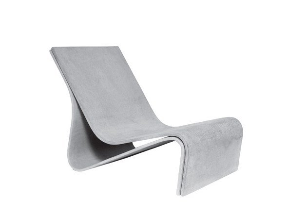 Cement garden armchair SPONECK | Cement garden armchair by SWISSPEARL Italia