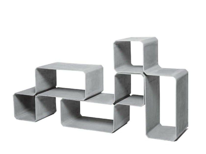 Cement garden cabinet TETRIS by SWISSPEARL Italia