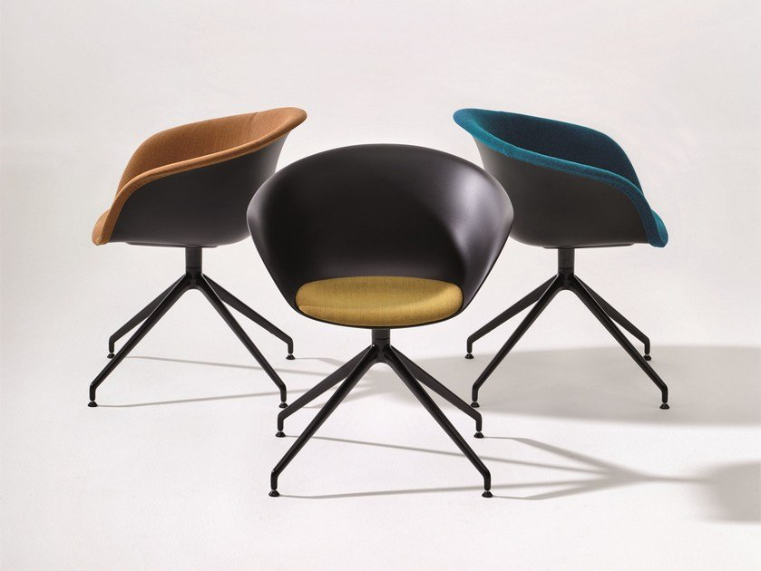 Trestle-based polypropylene chair DUNA 02 | Trestle-based chair by arper