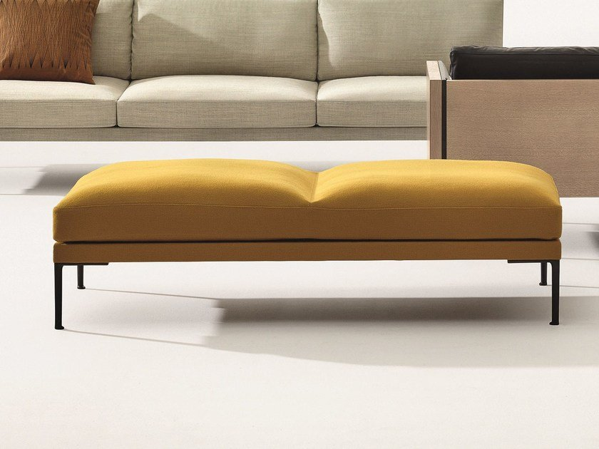 Upholstered backless bench seating STEEVE | Bench seating by arper