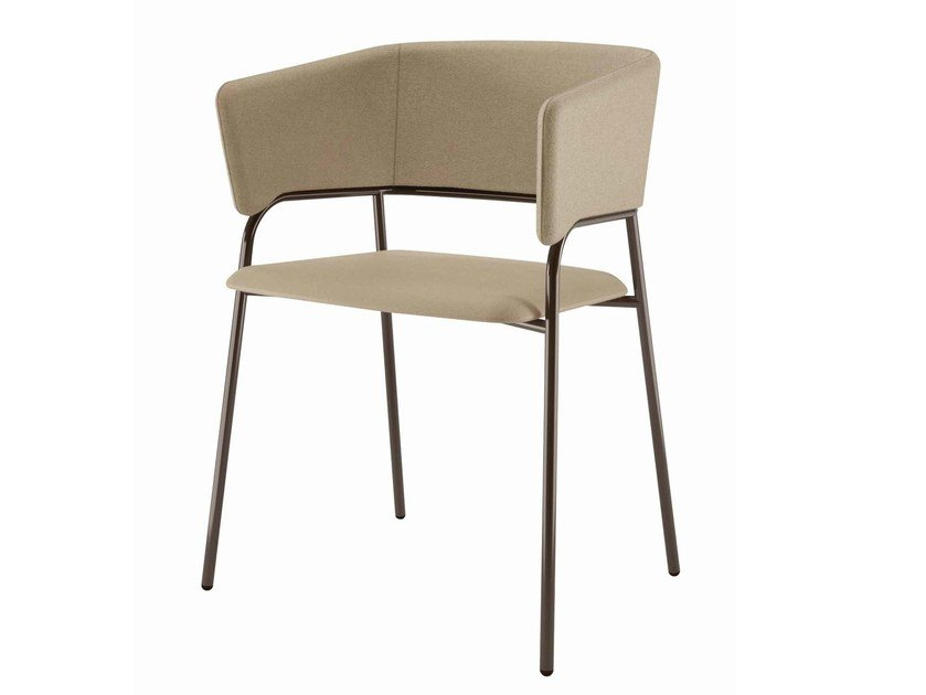 Gentil Fabric Chair With Armrests Play 538 By Metalmobil