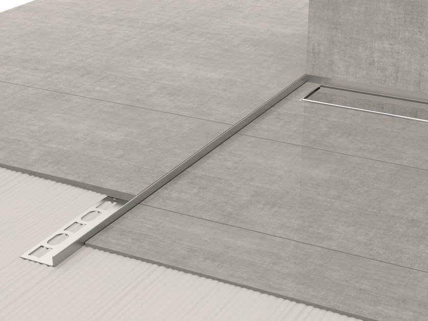 Stainless steel edge profile for floors GLASS PROFILE GPS8 by PROFILPAS
