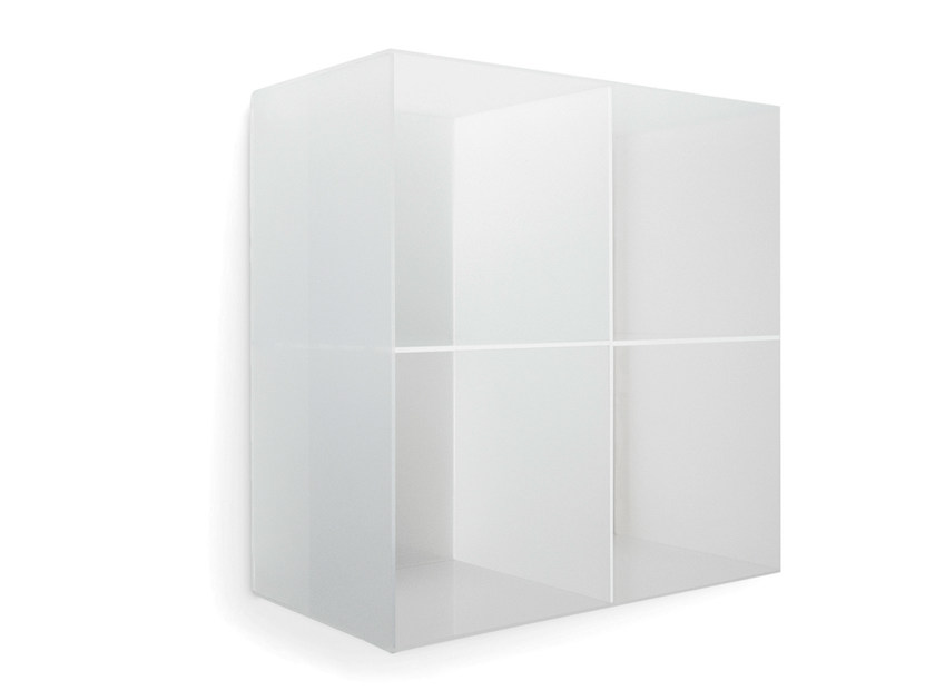 Wall-mounted one-sided salon display unit OPALE WALL 60 by Gamma & Bross