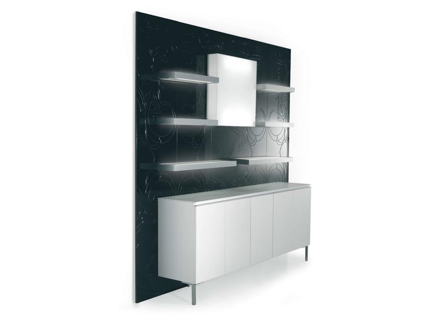 Wall-mounted one-sided salon display unit 5D5B2M94M61L | Retail display unit by Gamma & Bross