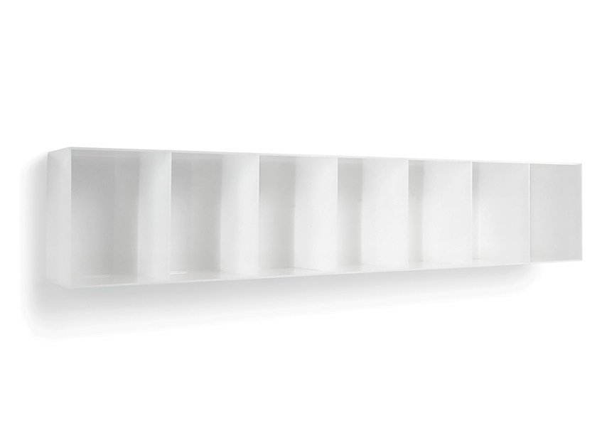Wall-mounted one-sided salon display unit OPALE WALL 180 by Gamma & Bross