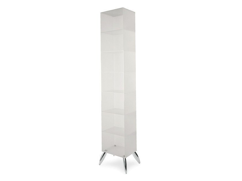 Floor-standing one-sided salon display unit OPALE by Gamma & Bross