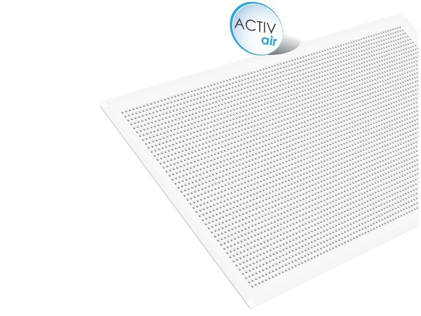 Gypsum ceiling tiles Gyptone Big Activ'Air® Quattro 44 by Saint-Gobain Gyproc
