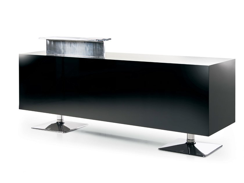 Reception desk BLACK TORIX by Gamma & Bross
