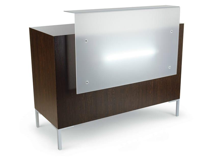 Reception desk with Built-In Lights YUKA by Gamma & Bross