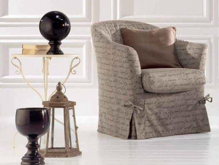 Fabric armchair TEA by Twils