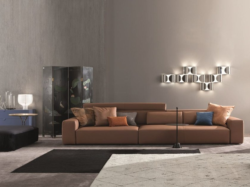 Modular leather sofa Comp. Set /14 by Twils
