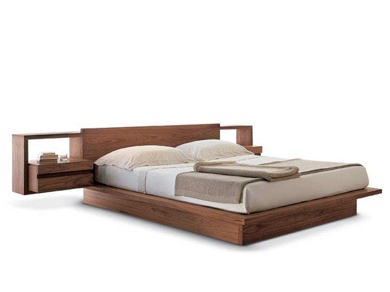 Multi-layer wood double bed TORINO   Bed by Riva 1920