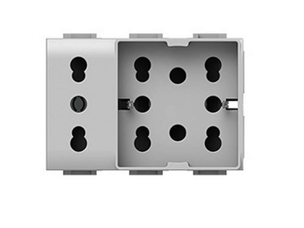 3-Module electrical outlet SIDE UNIKA XL by 4 BOX