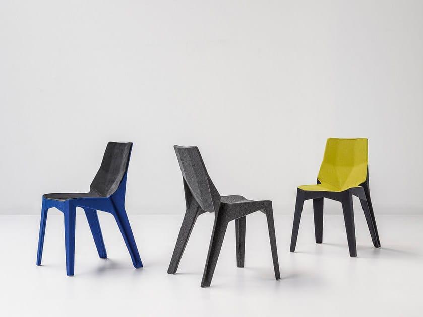 Fabric chair POLY XOXO by Bonaldo