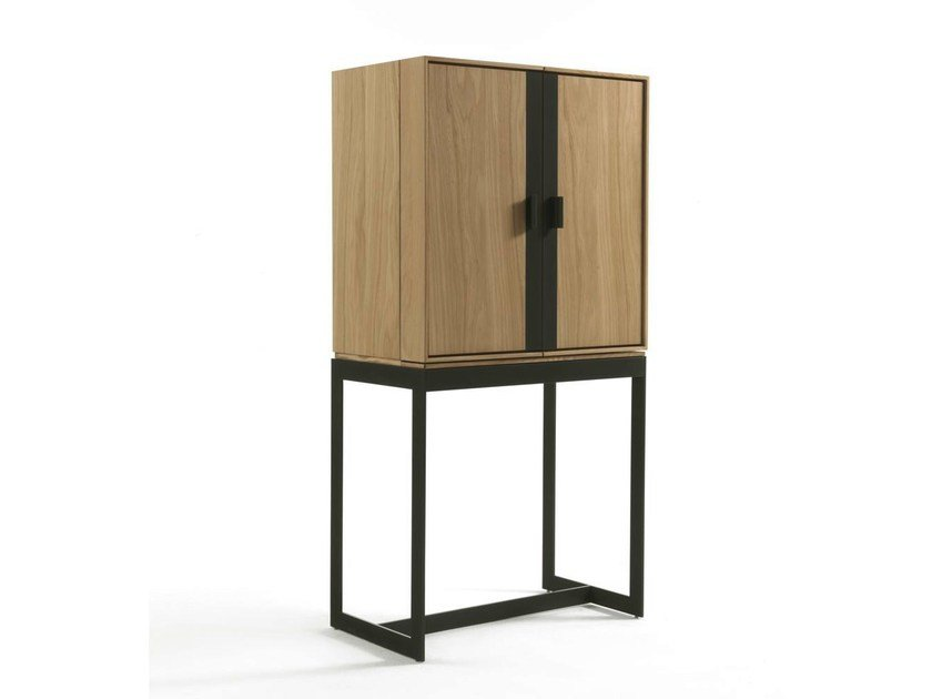 Solid wood highboard with doors FLY STORAGE by Riva 1920