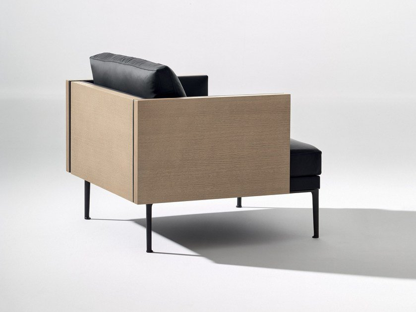 Upholstered armchair with armrests STEEVE | Armchair by arper